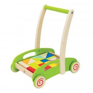 Hape Blok & Roll Houten Blokkenwagen