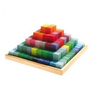 Grimm's Blokkendoos Piramide (100 stuks)