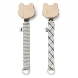 Liewood Fopspeenketting Blue Mix (2 pack)