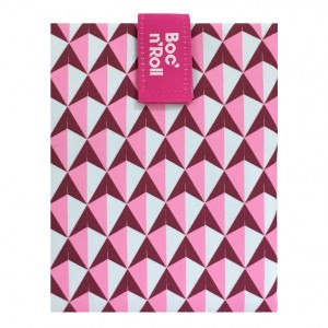 Roll'eat Boc'n Roll Tiles Foodwrap Roze