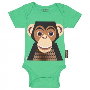 Coq en Pate Body met korte mouwen Chimpansee