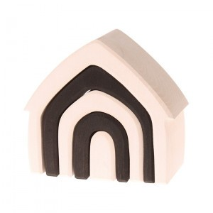 Grimm's Bouwset Huis Naturel (Lengte 13 cm)