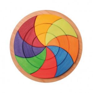 Grimm's Bouwset Mandala Goethe's kleuren (Diameter 28 cm)