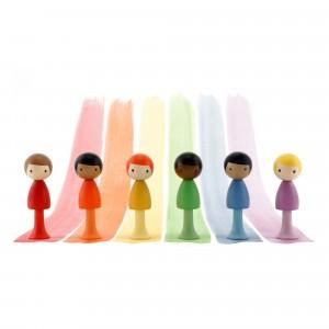 Clicques Houten Magneetfiguurtjes Rainbow Boys