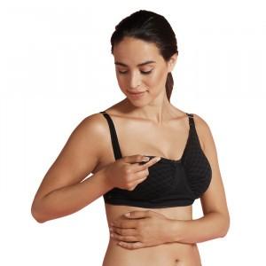 Carriwell Zwangerschaps- en Voedingsbeha Naadloos Carri-gel 'Deluxe' Zwart
