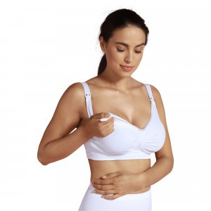 Carriwell Zwangerschaps- en Voedingsbeha Naadloos Padded Carri-gel Wit