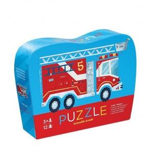 Crocodile Creek puzzel mini brandweerwagen (12 stukken)