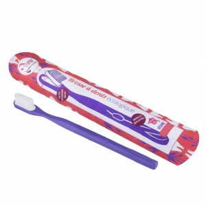 Lamazuna Tandenborstel met vervangbaar borsteltje - Zacht Paars