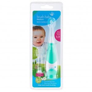 Brush Baby Sonic Elektrische Tandenborstel (+ 1 extra Tandenborstelkopje) Mint