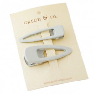Grech & co. Haarspelden Matte Clips (set van 2) Buff