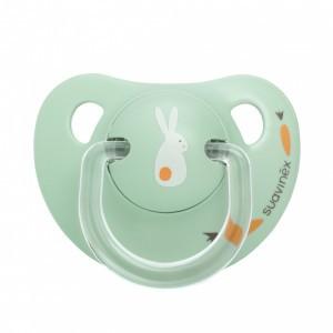 Suavinex fopspeen Anatomisch Silicone 0-6 maanden Konijn Mint