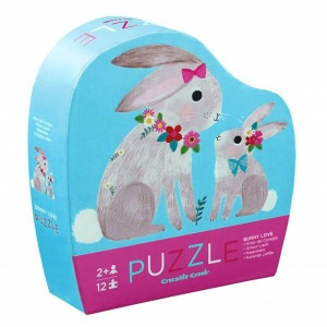 Crocodile Creek puzzel mini Bunny Love (12 stukken)