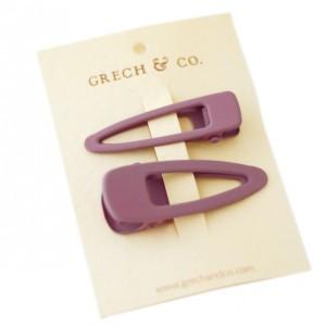 Grech & co. Haarspelden Matte Clips (set van 2) Burlwood