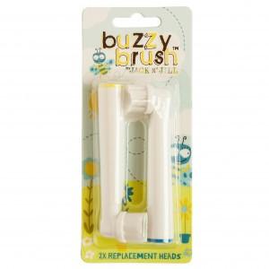 Jack n' Jill Vervangkopjes Nieuwe Buzzy Brush Tandenborstel (2 stuks)