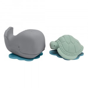 Hevea Cadeauset Badspeeltje Ingolf de walvis & Dagmar de schildpad