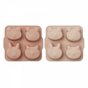 Liewood Silicone Bakvormen (2-pack) Rose Mix