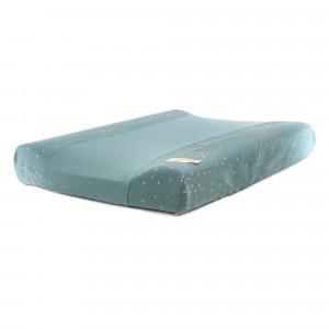 Nobodinoz Calma Waterproof Verzorgingskussen incl. Hoes Gold Confetti/Magic Green