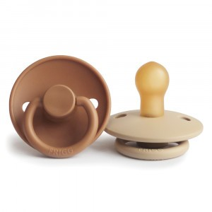 Frigg Fopspeen Fysiologisch Latex 0-6 maanden (2-pack) Cappuccino/Croissant