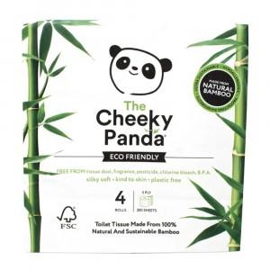 The Cheeky Panda Bamboe Toiletpapier (4 rollen)
