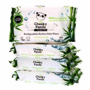 The Cheeky Panda Billendoekjes Voordeelpakket 4 Pakjes (256 doekjes)