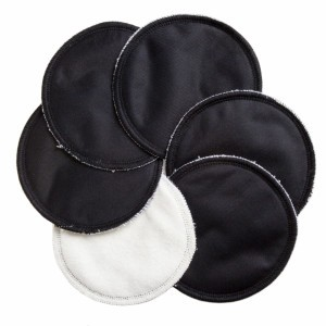 Cheeky Wipes Wasbare Borstvoedingskompressen Zwart (3 paar)