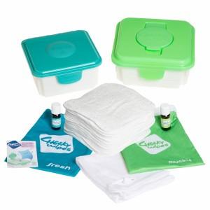 Cheeky Wipes Kit Maxi met Witte Katoenen Doekjes