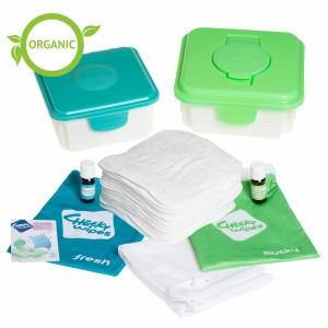 Cheeky Wipes Kit Maxi met Witte Organisch Katoenen Doekjes