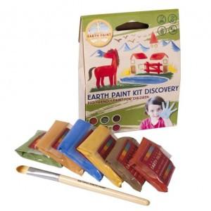 Natural Earth Paint Eco-vriendelijke Verf voor kinderen Kit Mini
