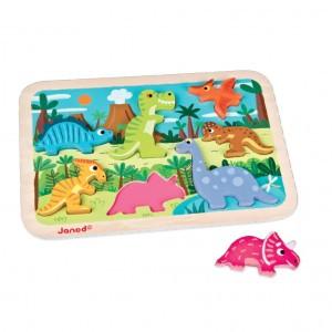Janod Chunky puzzel Dinosauriërs