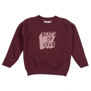 Cos I Said So Sweater Beats of love Bordeaux