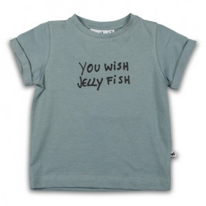 Cos I Said So T-Shirt met korte mouwen Slate 'You wish Jelly Fish'