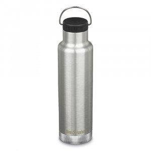 Klean Kanteen Thermische Drinkbus Insulated Classic met Loop Cap (592 ml) Brushed Stainless