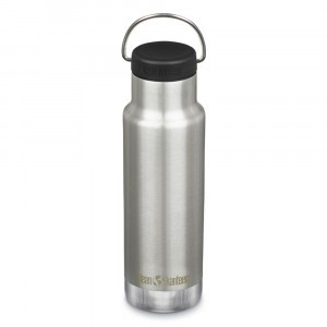 Klean Kanteen Thermische Drinkbus Insulated Classic met Loop Cap (355 ml) Brushed Stainless