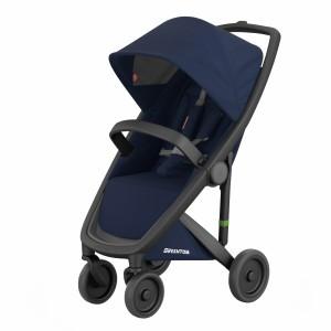 Greentom Kinderwagen Classic Zwart/Blauw