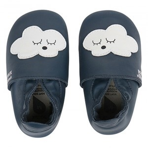 Bobux Soft Soles Clouds Navy