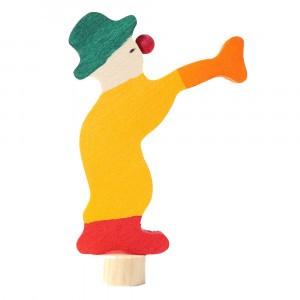 Grimm's Decoratief Figuur Clown met trompet