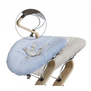 Nomi Baby Basis Coffee met Matras Pale Blue/Sand