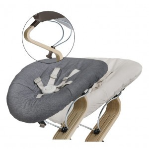 Nomi Baby Basis Coffee met Matras Dark Grey/Sand
