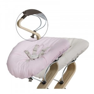 Nomi Baby Basis Coffee met Matras Pale Pink/Sand