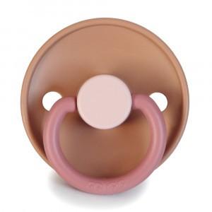 Frigg Fopspeen Fysiologisch Silicone 6-12 maanden Colorblock Flamingo