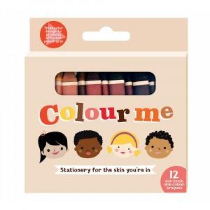 Colour Me 'Skin Tones' Waskrijtjes (12 stuks)