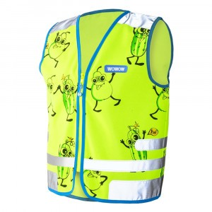 Wowow Reflecterend veiligheidshesje Comic Veggie Jacket Green
