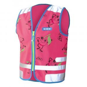 Wowow Reflecterend veiligheidshesje Comic Veggie Jacket Pink