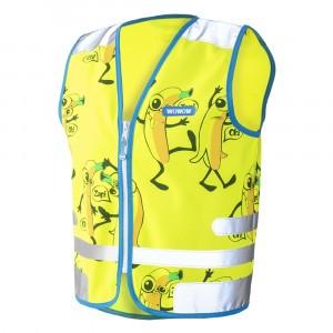 Wowow Reflecterend veiligheidshesje Comic Veggie Jacket Yellow