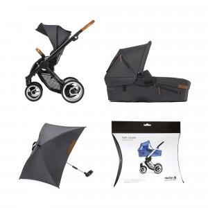 Mutsy Evo Urban nomad Complete set + regenscherm wieg + parasol