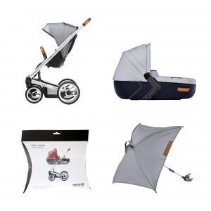 Mutsy Igo Urban nomad Complete set + regenscherm wieg + parasol