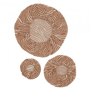Haps Nordic Katoenen Covers (3-pack) Terracotta Wave