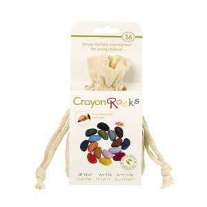 Crayon Rocks Sojawaskrijtjes in een ecru katoenen zakje (16 stuks)