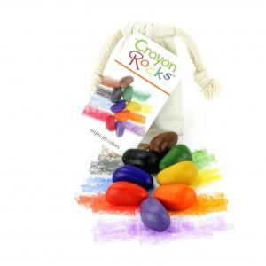 Crayon Rocks Sojawaskrijtjes in een ecru katoenen zakje (8 stuks)
