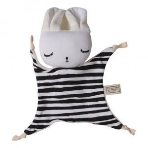 Wee Gallery Knuffeldoekje Bunny Stripes